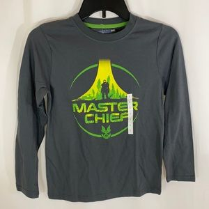 Halo Master Chief Printed Long Sleeve Shirt